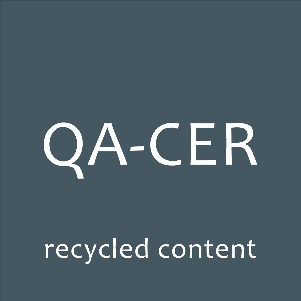 logo qa-cer certified recycled content