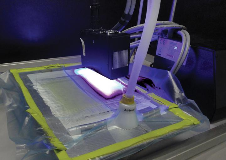 UV-LED curing installation